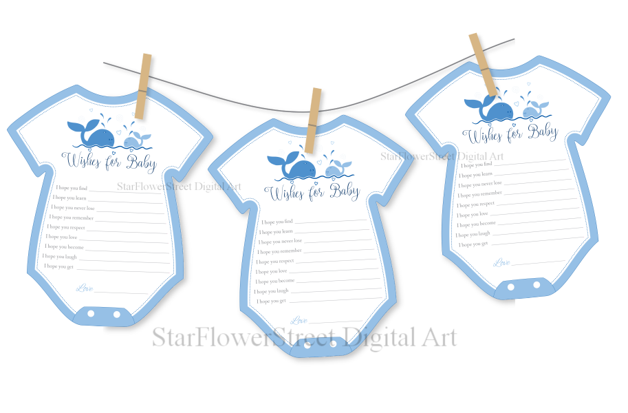 whale clothesline baby shower