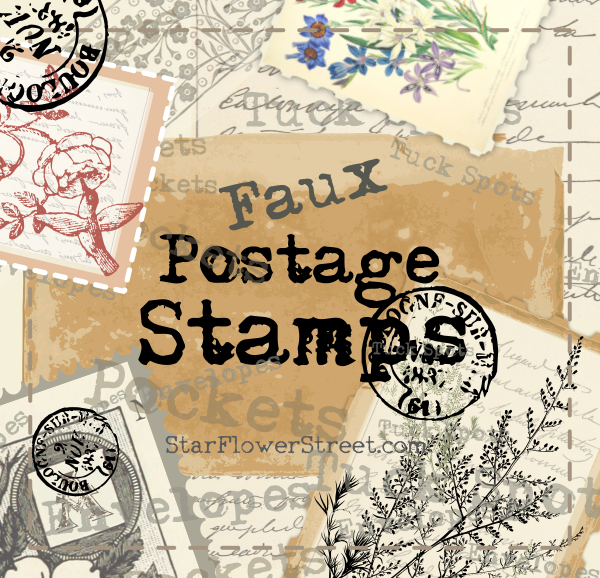 Faux postage stamps