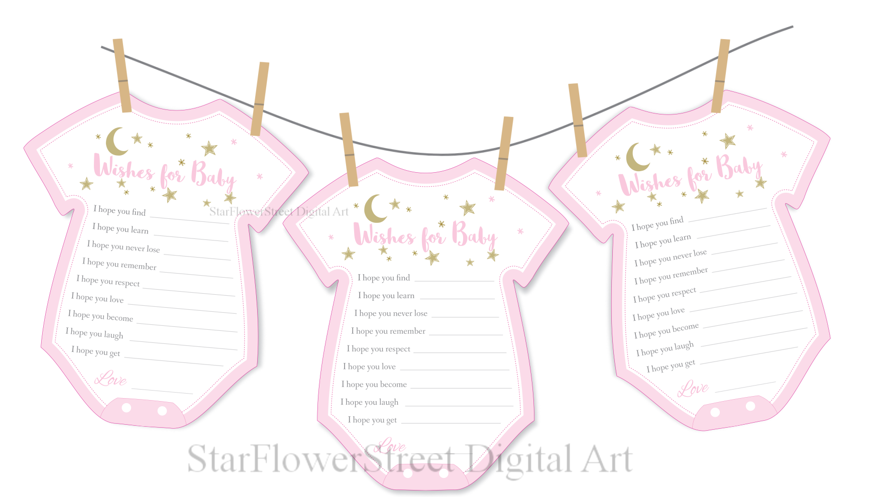 Twinkle Twinkle Little Star Baby Shower Decorations pink gold