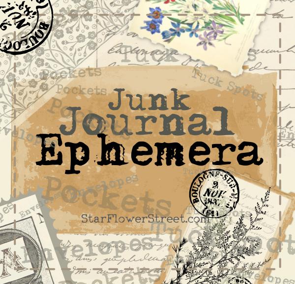 Junk journal ephemera  - postage stamps, vintage images, postcards and envelopes.