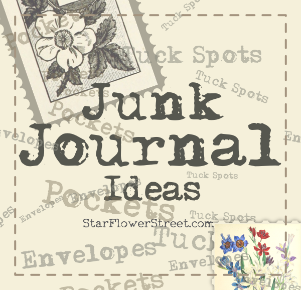 Junk journal ideas  - pockets, tuck spot, flips and envelopes for your pages.